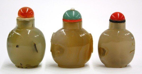 4019: Chinese Hardstone Snuff Bottles