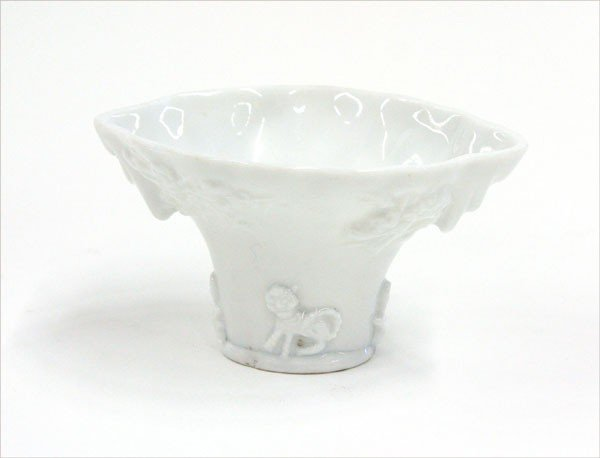 4023: Chinese Blanc de Chine Libation Cup