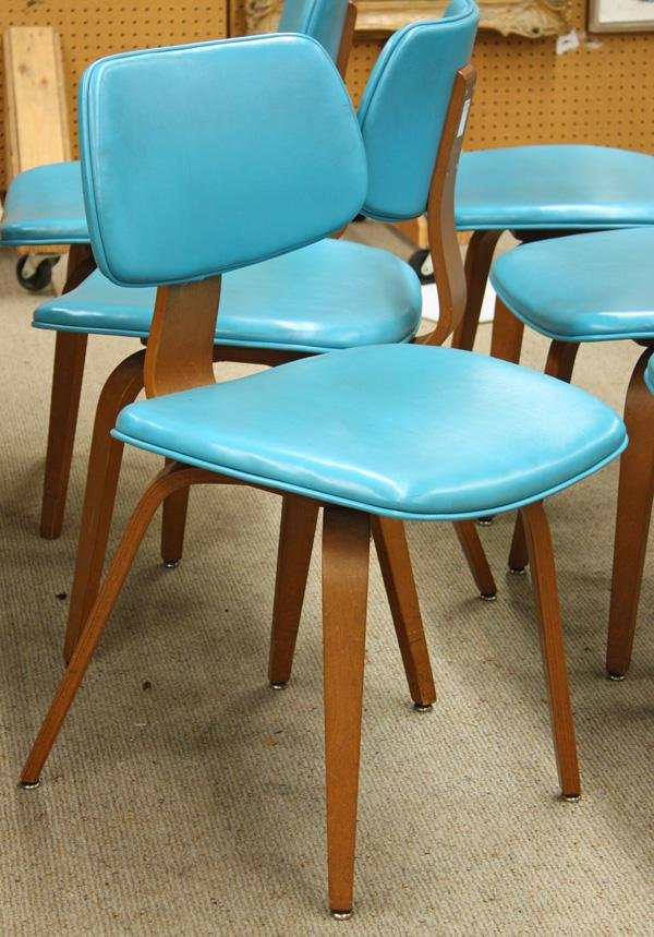4165: Thonet bentwood dining chairs and table - 3