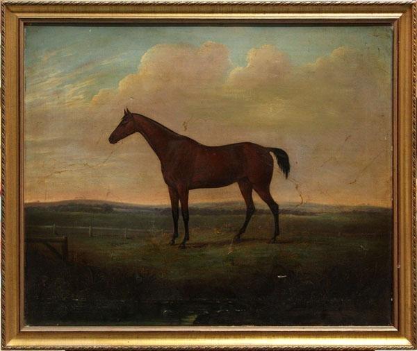 4415: Painting, Portrait of a Stallion
