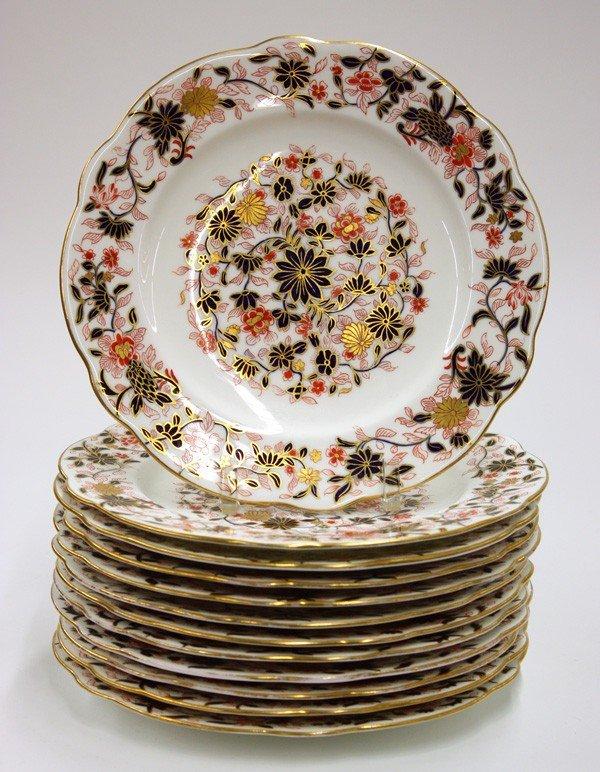 2014: Coalport Imari porcelain dinner plates