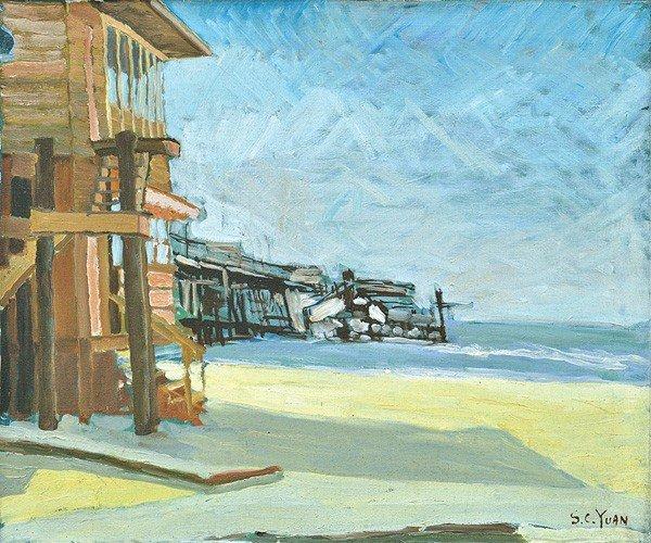 2285: Painting, Si Chen Yuan, Wharfside Monterey