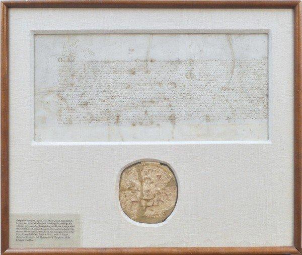 2288: Elizabeth I signed 1563 indenture & Great Seal