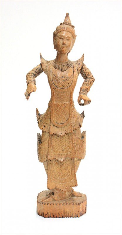 2: Siamese Carved Wood Attendant Figure