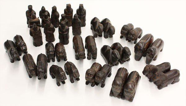 12: Chinese Wooden Figurines, Shi Xiang Sheng,