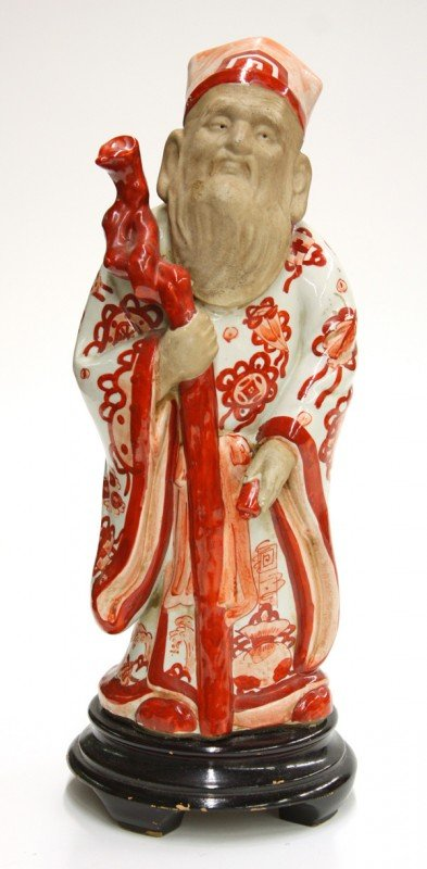 20: Asian Enameled Porcelain Figure of a Deity