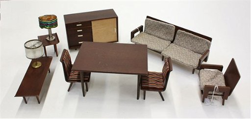 289 Mattel Modern Dollhouse Furniture