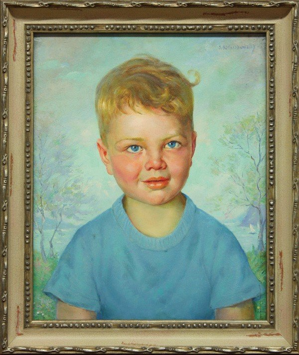 379: Painting, Abel G. Warshawsky, Portrait of a Boy