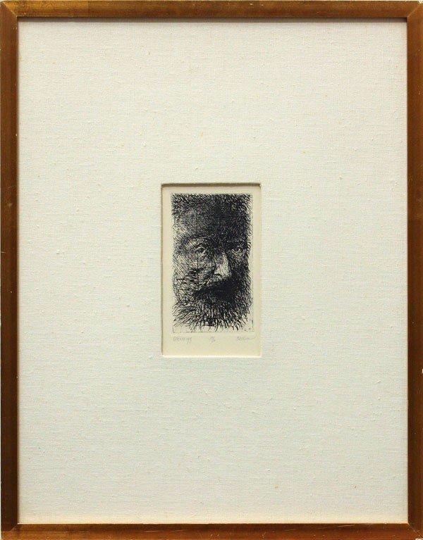 396: Etching, Leonard Baskin, Thomas Eakins