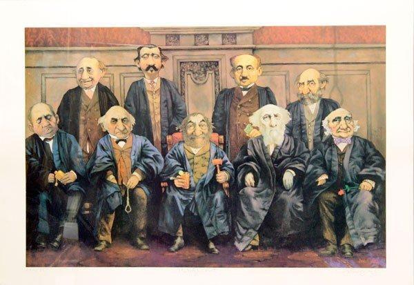 432: Lithograph, Charles Bragg, High Court