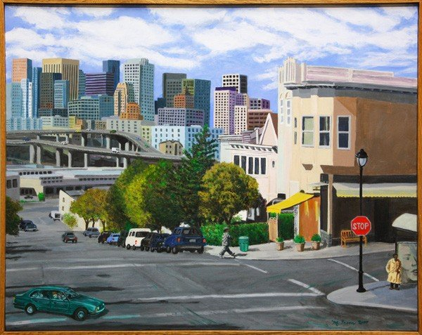 531: Painting, Michael Fram, Meadow, Potrero Hill