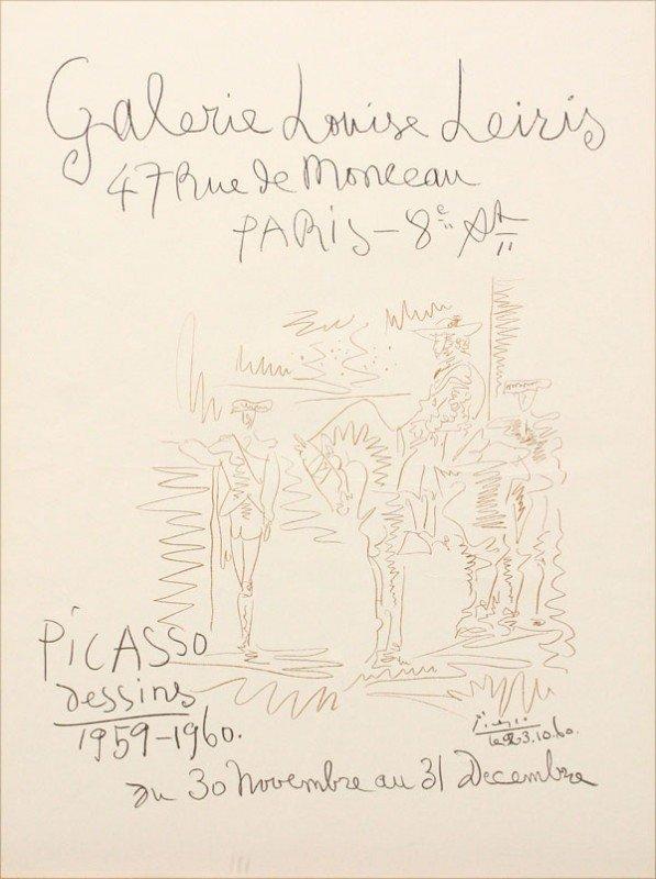 609: Lithograph, Pablo Picasso
