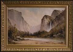2206 Framed oil Yosemite Thomas Hill