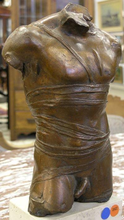 2427: Bronze torso, Igor Mitoraj - 3