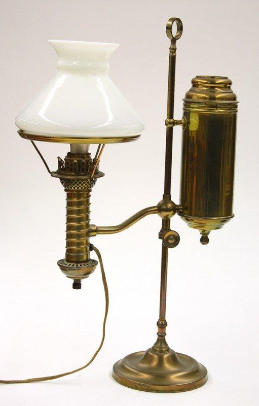 6011: Brass adjustable student lamp