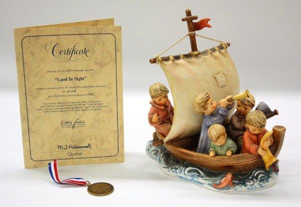 6023: Goebel Hummel ''Land In Sight'' figurine