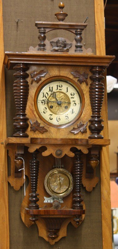6130: Friedrich Mauthe German wall clock