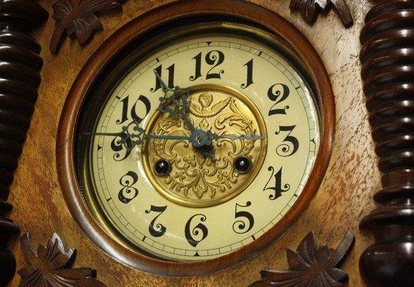 6130: Friedrich Mauthe German wall clock - 3