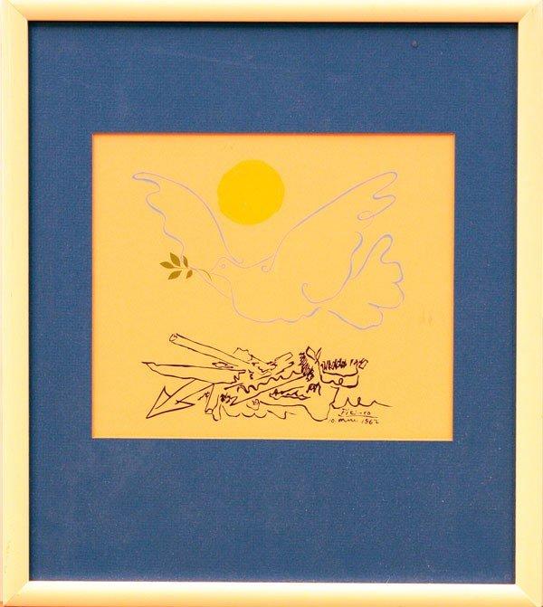 6309: Lithograph, Pablo Picasso, Dove