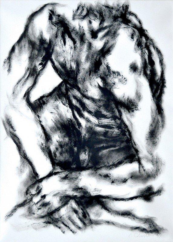 6357: Brushed ink, Luis Caballero, Male Torso