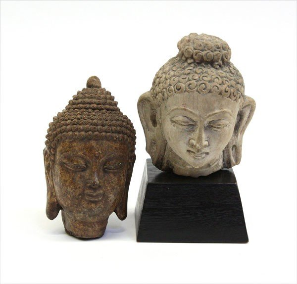 4000: One Chinese and One Asian Buddha Head