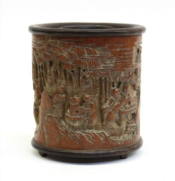 4015: Chinese Bamboo Brush Pot