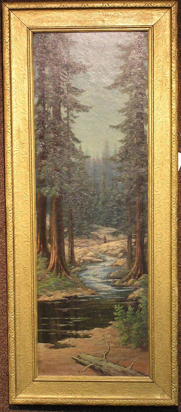 5: Oil/board, California Redwoods