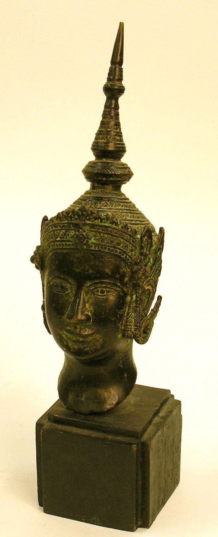 18: Bronze Buddha head, 20th c.
