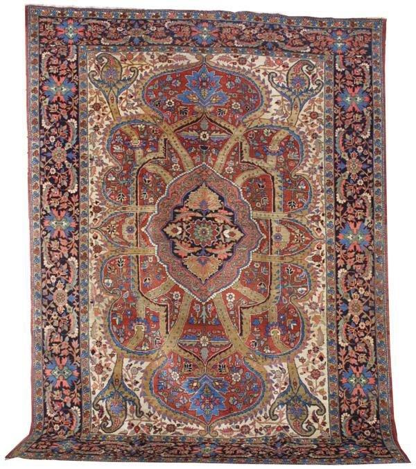 2171: Antique Serapi carpet
