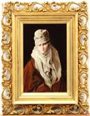 2194 Painting Hovsep Pushman Veiled Woman with Pearl
