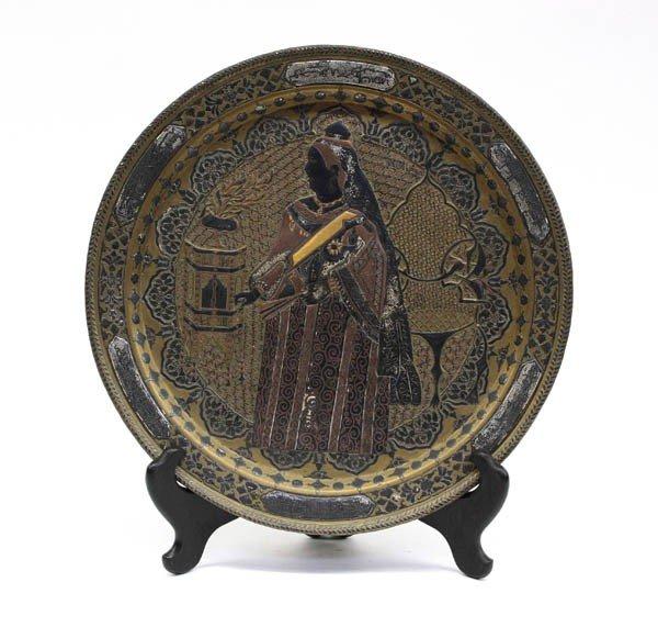 4: East Indian Inlaid Metal Plaque, Queen Victoria
