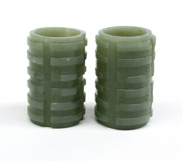 5: Chinese Carved Jade Cong-Like Ornaments