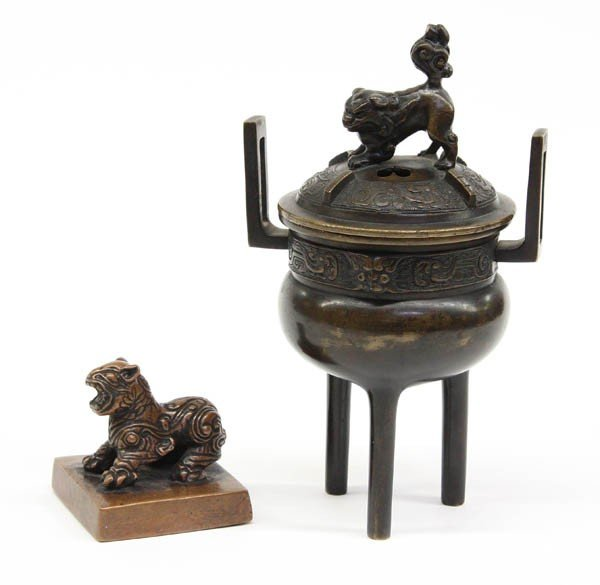 8: Chinese Metal Censer and Seal