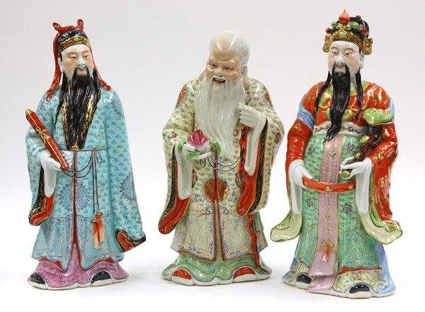 14: Chinese Large Porcelain Figures, Three Stars