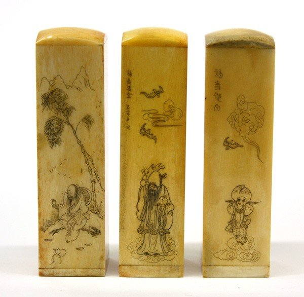 16: Chinese Carved Bone Seals