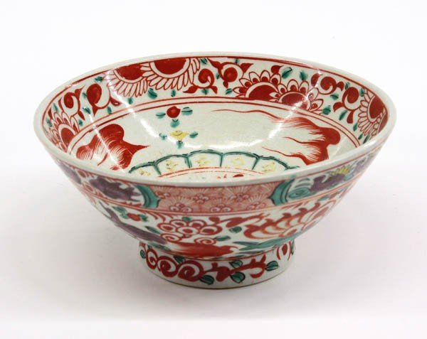 30: Chinese Swatow Porcelain Bowl, Qing