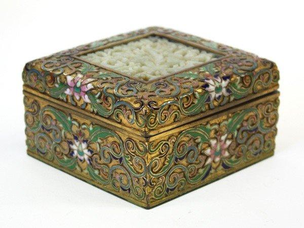 36: Chinese Cloisonne/Jade Box