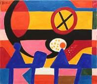 309 Painting Walter Gaudnek LA Breakfast