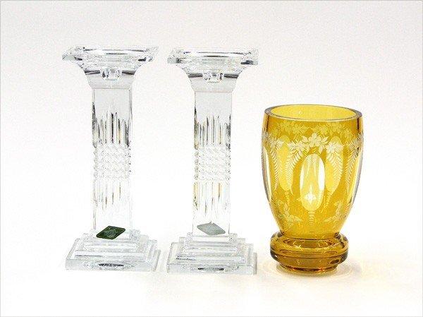 6002: Crystal candlesticks