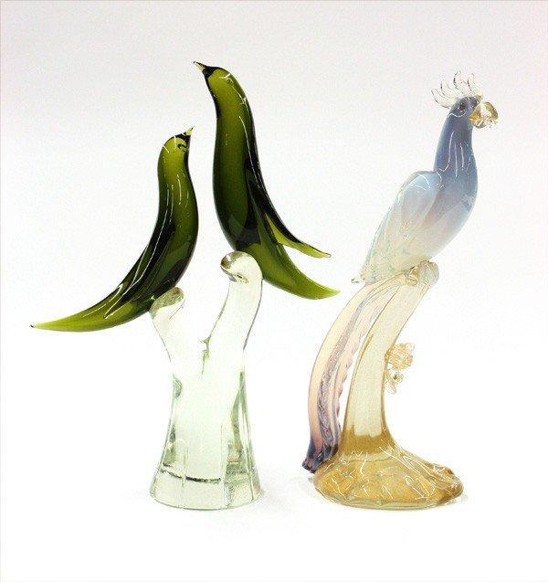 6008: Murano glass figural groups