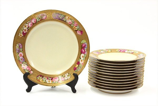 6018: French gilt service plates