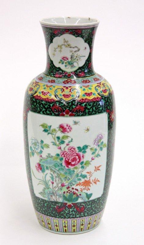 6679: Chinese Large Enameled Porcelain Vase, Republic
