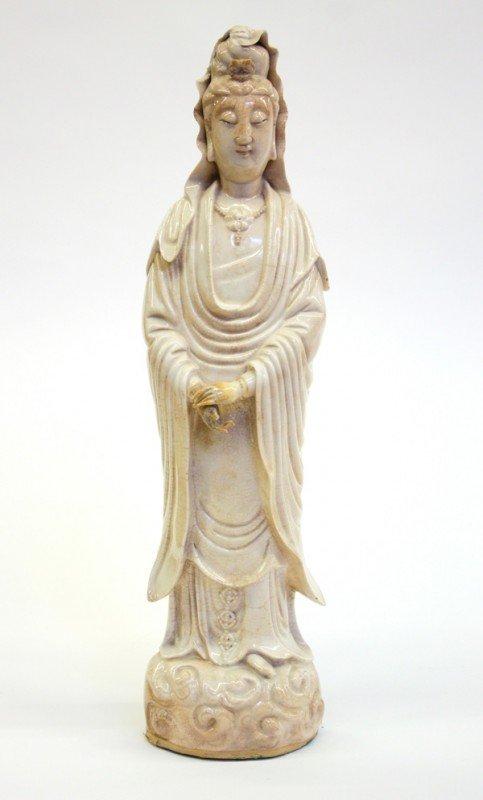 4001: Chinese White Ware Guanyin Figure