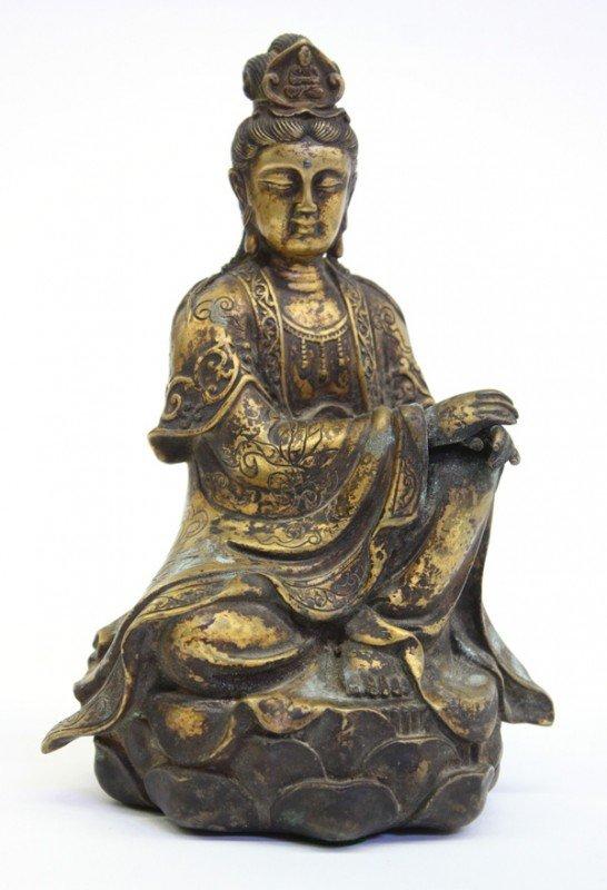 4002: Chinese Gilt Metal Guanyin