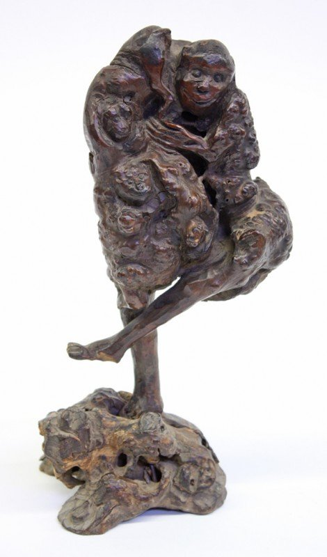 4003: Chinese Rootwood Figural Carving