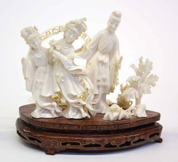 4008: Chinese Ivory Figural Group