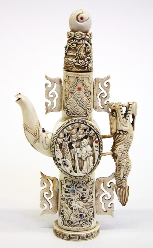 4009: Chinese Ivory Pouring Vessel