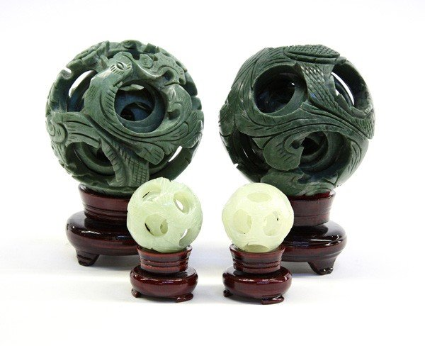 4013: Four Chinese Jade Puzzle Balls