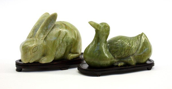 4016: Two Chinese Jade Animals Figures