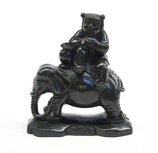 4018: Chinese Hardstone Carving, Elephant